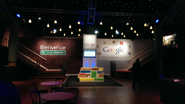 Startup VIllage and Google Workshop under construction at the eve of the event