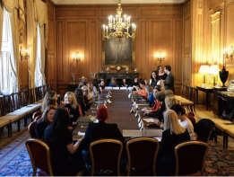 Senior women in technology and business sit down to discuss diversity.