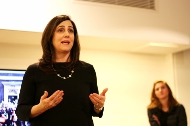 Joanna Shields, Baroness Shields speaking at DevelopHer Mentoring event