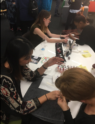 Le Salon treating our guests to manicures